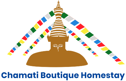 Chamati Boutique Homestay Logo Blue